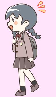 Walking girls students