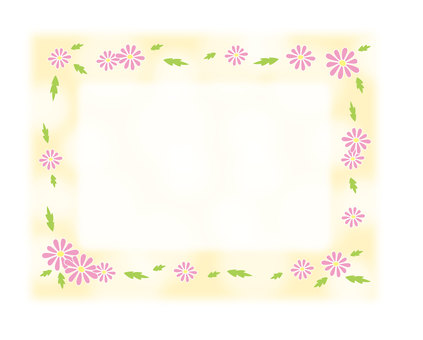 Daisy frame - pink