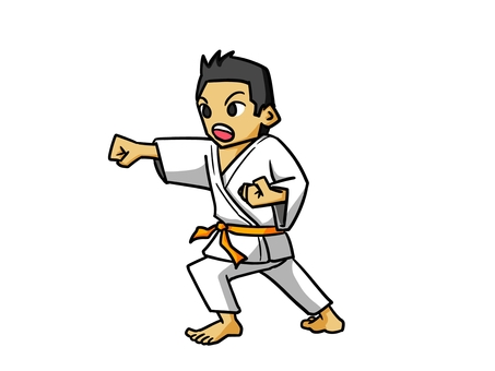 With karate