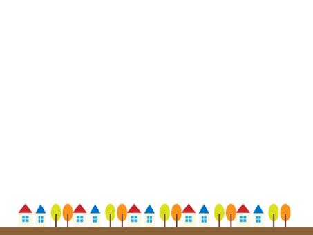 房子和樹框架