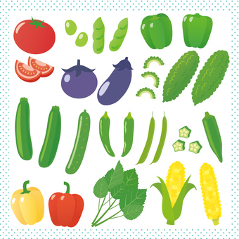 An assortment of summer vegetables