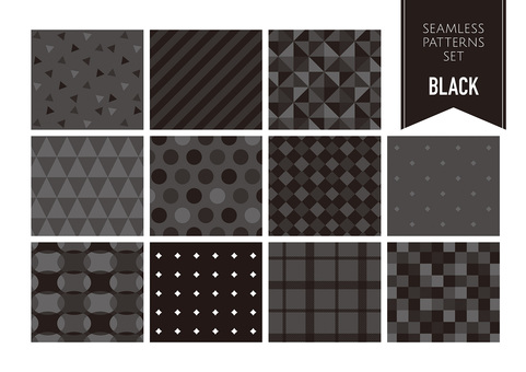 Seamless pattern set / black