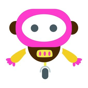 One-wheel robot you with pink face