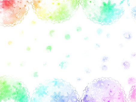 Rainbow color fluffy fluffy