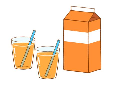 Set of orange juice