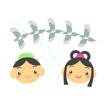 Orihime and Hikoboshi, Magpie
