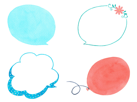 Various speech bubbles 4 kinds