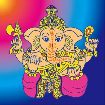 Ganesha CMYK color Ver.