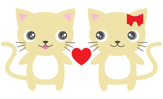 러브 러브 고양이 커플