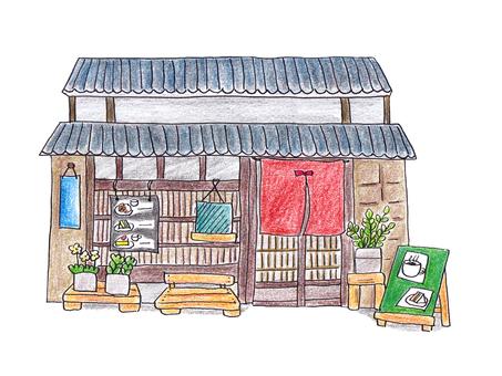 상가 카페 (색연필 칠)
