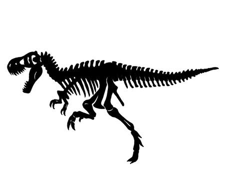 Tyrannosaurus skeleton silhouette