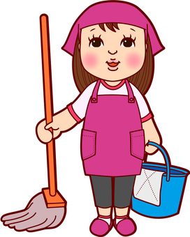 Apron cleaning women