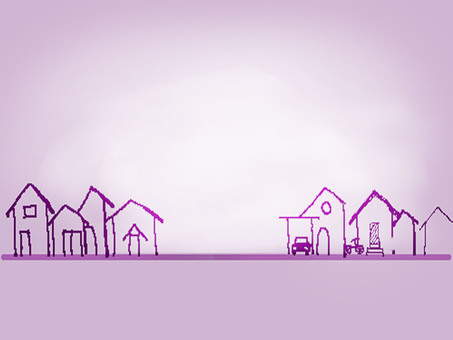Dawn of a purple city