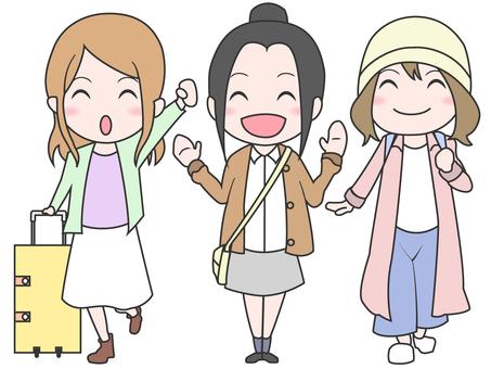 3 여자 여행
