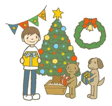 Christmas and gleeful