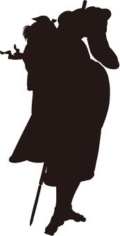 Ukiyo-e character silhouette part 144