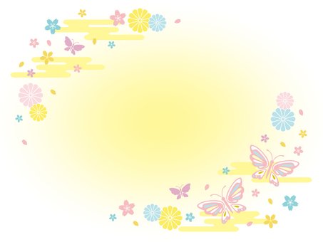Modern background of butterfly