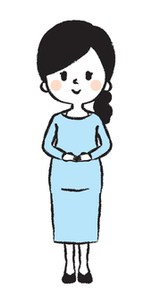 Pregnant woman hand drawn illustration