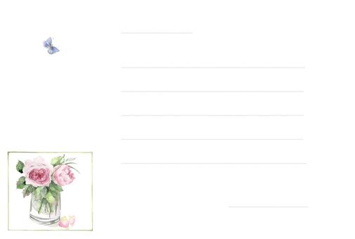 花枠便箋1-二輪のバラの一筆箋