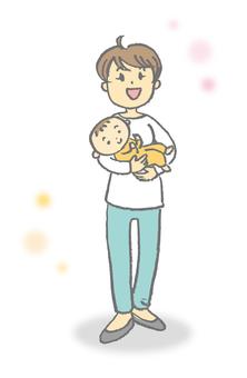 Hug holding mama