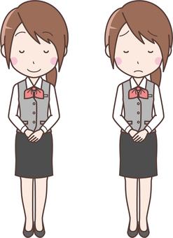 女性事務員07