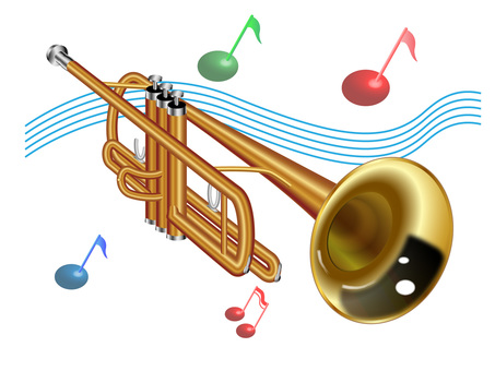 Trumpet (with note)