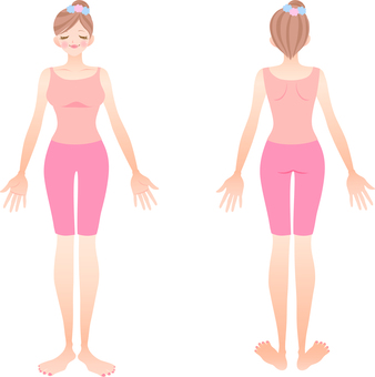 Illustration of the whole body of a woman