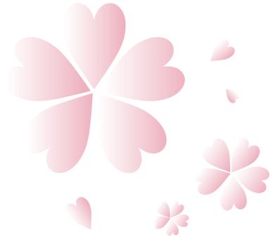 Heart Cherry Blossom 01