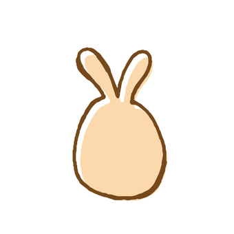 Hand-drawn illustration of rabbit type egg