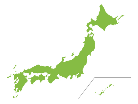 Japan map (one connection)