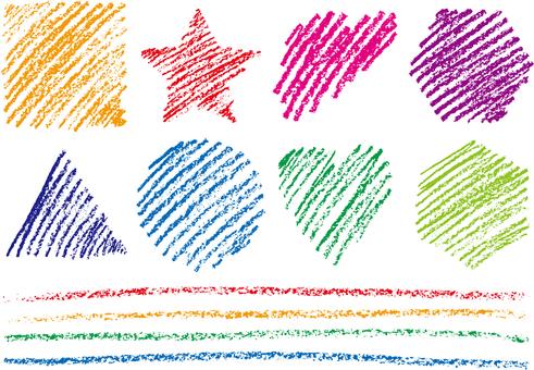 Crayon material 1b