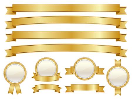 ริบบิ้นและเหรียญชุด Gold 01