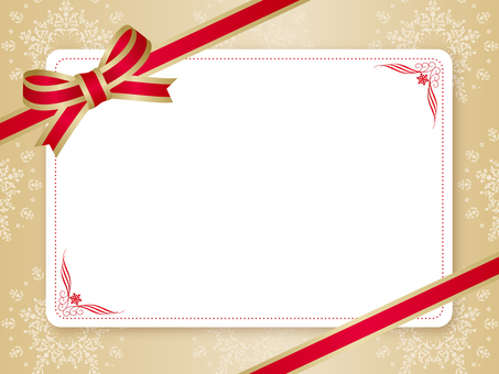 Christmas card _ Ribbon