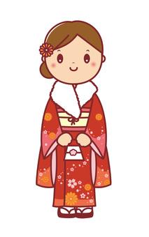 Adult ceremony adult day kimono kimono kimono woman