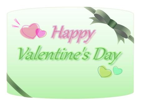 Valentine card green type