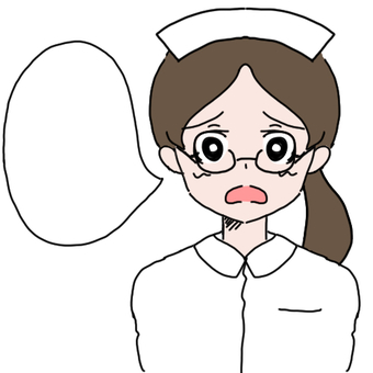 Glasses with balloon Nurse woman (difficult)