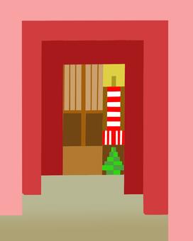 塊樣式寺廟入口例證