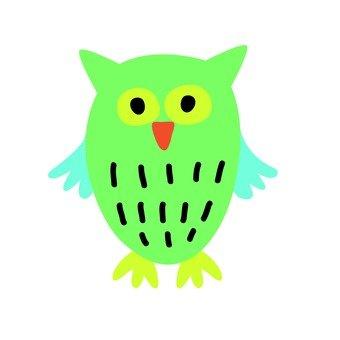 Green owl 1