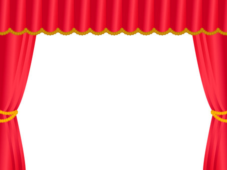 Stage curtain frame red