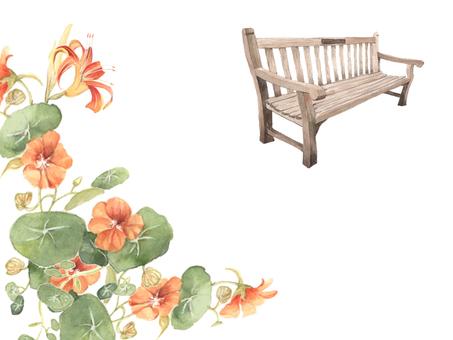 花枠383ー夏のご挨拶のはがき花枠