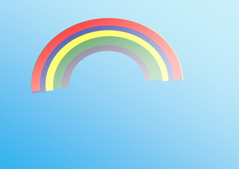 Blue sky and rainbow