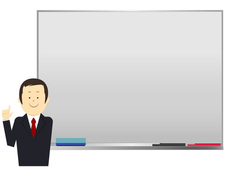 Men in suits with white boards Vector
