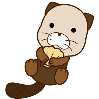 Animal illustration-sea otter