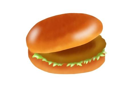 Cutlet burger (no main line)