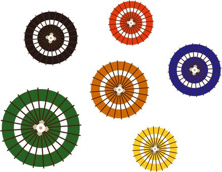 Kabuki color umbrella set