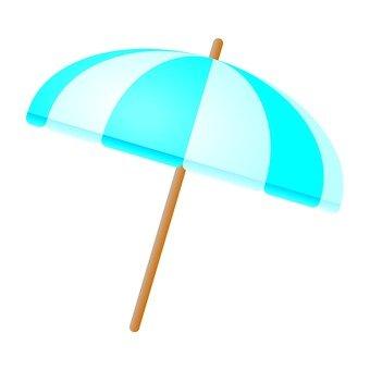 Beach umbrella (blue)