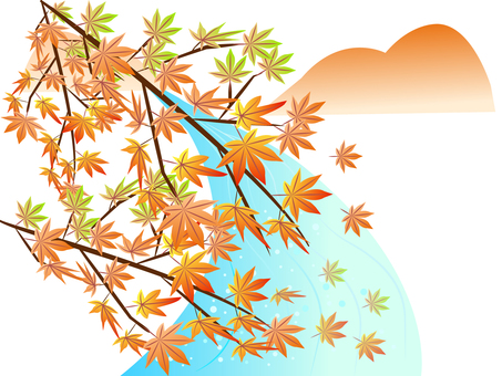 Scenery of autumn leaves