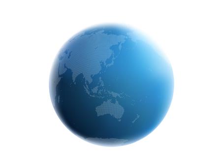 Earth dot map Asia 1 blu