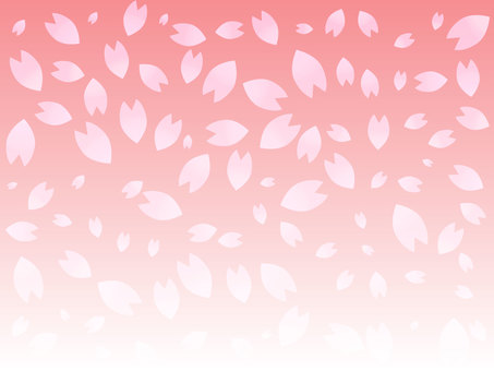 グラデーションの桜の背景