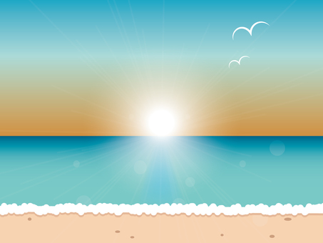 An image of the sunset beach
